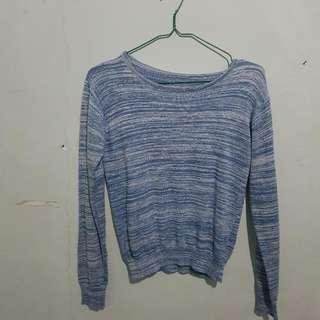 Crop Sweather Blue