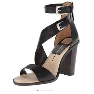 Dolce vita black asymmetrical sandal