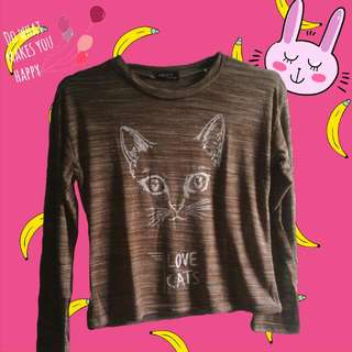 Love Cats Crop Tee