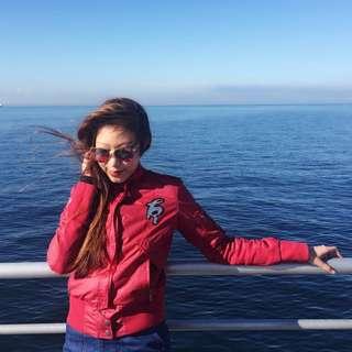 Kappa deep red bomber jacket