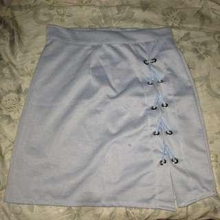 Onhand Sky Blue Crisscross Skirt