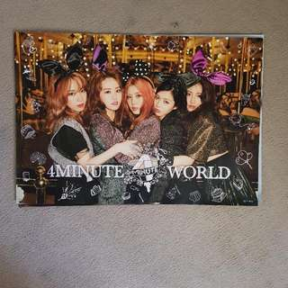 4MINUTE WORLD POSTER