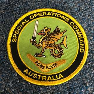 BNIP Special Operations Command Australia Morale Velcro Badge