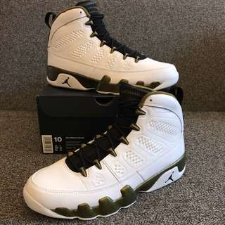New Air Jordan Retro IX Military Green US 10