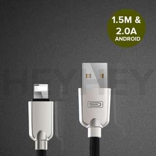 Zinc Alloy 1.5M Durable Sync Data USB Charger Cable iPhone 5 6 7 Plus iPad 4 Mini heyheyonline