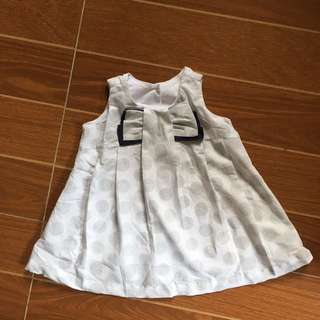 Baby Me Printed White Dress