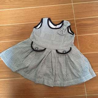 Baby Me Blue-Gray Dress