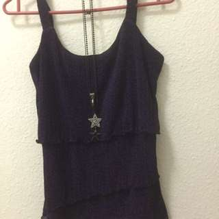 Violet Two Strings Top