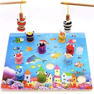 Brand New Wooden 3D Fun Fishing Game
