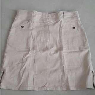 Cream Mini Skirt Nevada