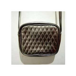 Sling Bag Metallic Silver
