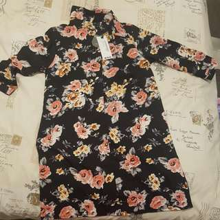 Size 8 Floral Shirt Dress