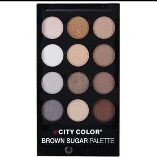 City Color Brown Sugar Eye / Smokey Nudes Shadow Pallete ori by City Color