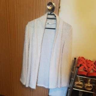 Valley Girl Fluffy White Jacket