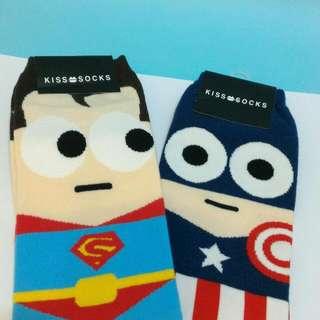 美國隊長    可愛  襪子  二雙