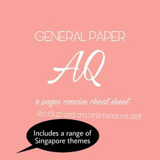 GP H1 AQ LIFE SAVER CHEATSHEET NOTES