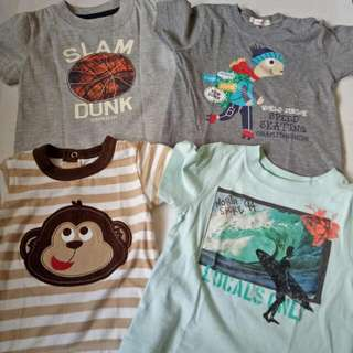 Lot Of 4 Baby Boys Branded T-Shirt