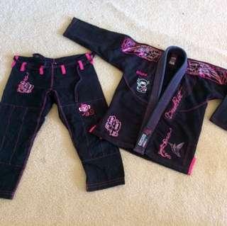 2x Womens Jiu Jitsu Gi, Size F1 Female