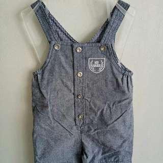 New! Soft Denim Jumper Shorts Fits 12-18 Mos