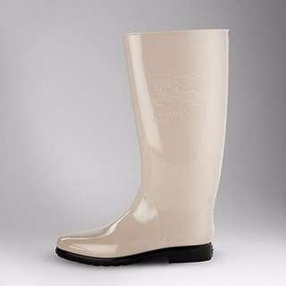 🎉全新Burberry Wellington Boots 威靈頓 LOGO 雨靴 卡其色
