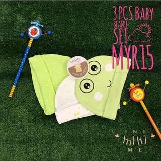 3pcs Baby Beanie Set