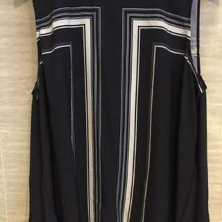 Country Road Navy Striped Singlet Shirt