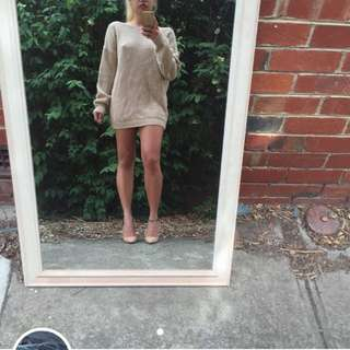 Nude Knit Backless Jumper/ Dress