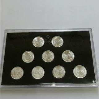 全新人民幣壹份錢硬幣9枚