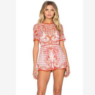 RENT A DRESS: Alice McCall Space Is Only Noise Romper | Size 10