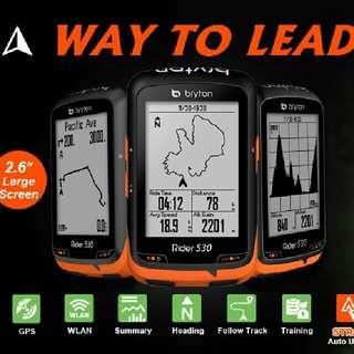 100%NEW Bryton Rider 310/330/530 GPS Cycling Computer Bundle中文無線GPS單車碼錶套裝(含 F-Mount 延伸座, 新款無線ANT+二合一腳頻速度sensor與心跳帶)~~~送機身保護套連膜