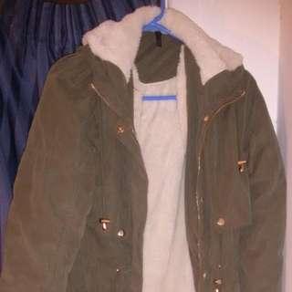 Khaki Fur-lined Jacket