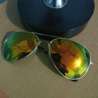 (FREE POSTAGE) Yellowish Green Sunglasses