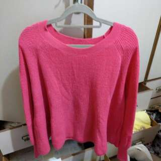 Pazzo 粉紅色針織毛衣