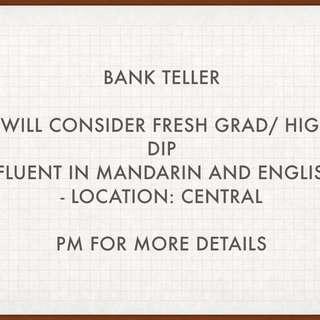 Bank Teller