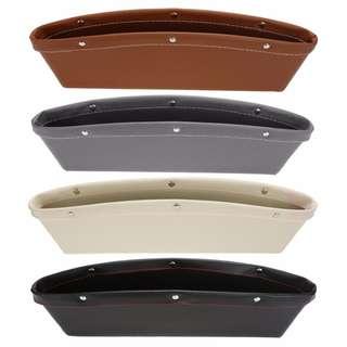 Creative Car Storage Box Leather Car Seat Gap Pocket Catcher X2pcs