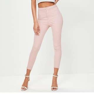 Pink Ankle Grazer Skinny Jeans