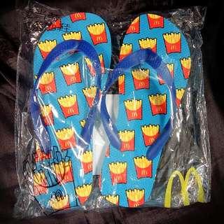 全新麥當勞薯條拖鞋  100%NEW:Beach Slippers