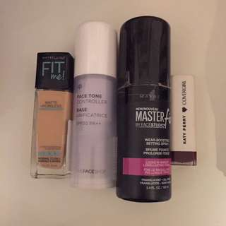 Beauty Bundle(Primer, Foundation, Setting Spray Lipstick)