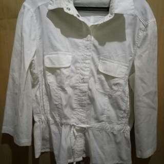 Branded White Long Sleeves Shirt