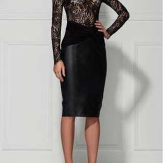 Misha Collection Leather Skirt Size S