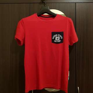 Giordano Red Shirt - Medium Slim-fit (Good As Small)