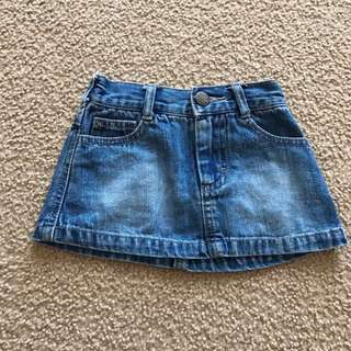 vgc size 00 vintage bonds denim skirt