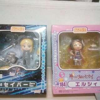 Original Nendoroids: Saber ZERO Ver. and Elsie