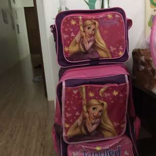 Kids Trolley School Bag with Lunch Bag