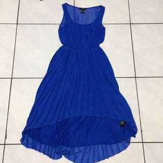 H&M Asymmetric Blue Dress