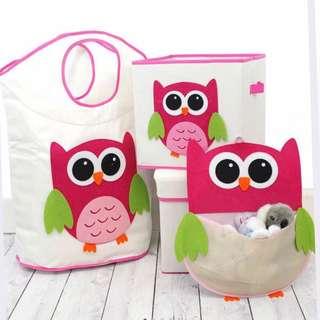 Owl Hamper & Storage Set