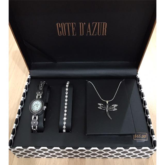 1 Set (Watch, Bracelet, Necklace)