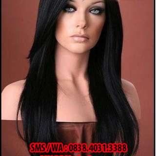 Toko Asesoris Wig - Wig Korea Terbaru - Wig Sepunggung poni panjang BL-01
