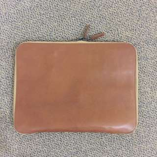 This Is Ground Leather Laptop Case