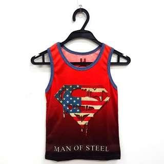 Super Man Singlets - Man Of Steel